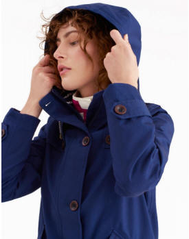 129176731 Joules Coast Womens Waterproof Cotton Coat Y_Coast - French Navy ...