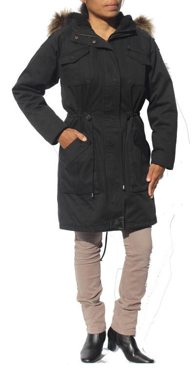Minimum Ladies Naomi Black Parka Jacket | Red Rae Town & Country