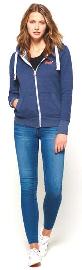 a978561f2b8c4 Superdry Women's Orange Label Primary Zip Hoodie - Princeton Blue ...