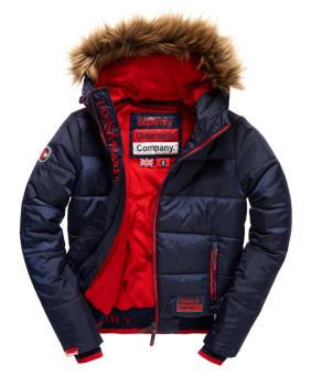 Superdry Ladies Polar Sports Puffer Jacket Navy