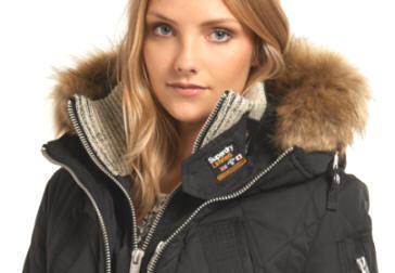 Superdry Womens Alpine Parka Smoked Forest Red Rae